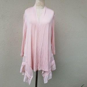 LOGO pink cardigan